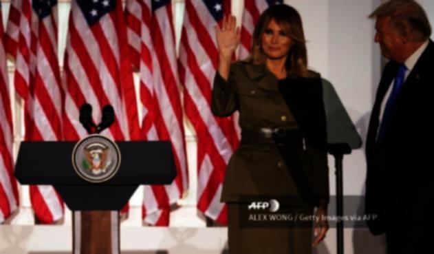 Melania Trump en su discurso en la Convención Republicana
