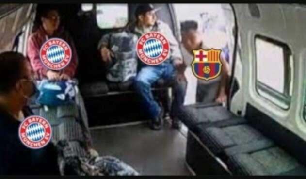 Memes que dejó el Barcelona (2) Bayern (8)