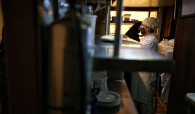 Reapertura de restaurantes en Bogotá en plena pandemia