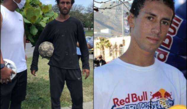 'Rocky Mayorga', el mago del balón que lucha por vencer el bazuco