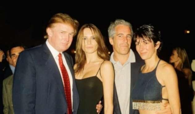 Donald Trump, Melania, Jeffrey Epstein y Ghislaine Maxwell