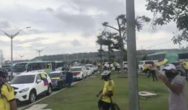 Caravana en Barranquilla.