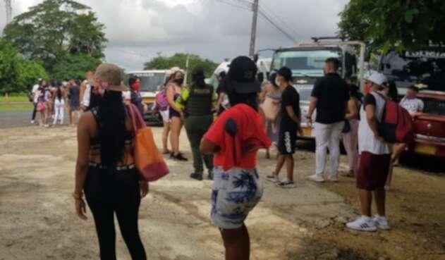 Sorprenden a personas de paseo en Cartagena