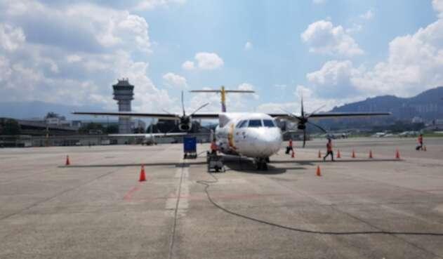 Aeronave ATR42 de la aerolínea Satena