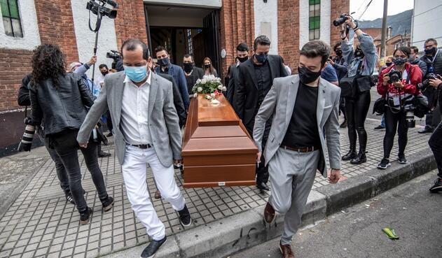 El sepelio de Javier Ordóñez se dio en Bogotá.