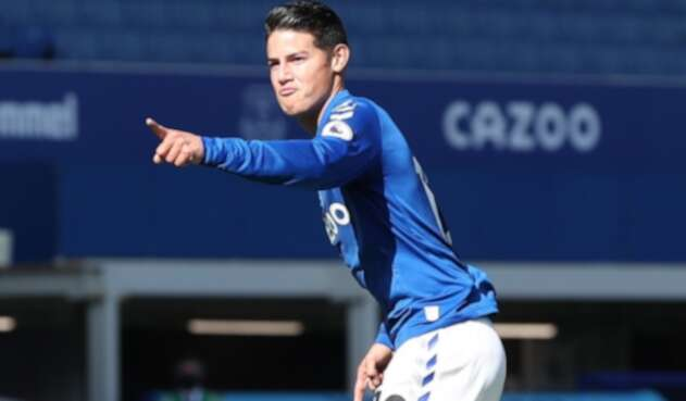 James Rodríguez, Everton vs West Bromwich