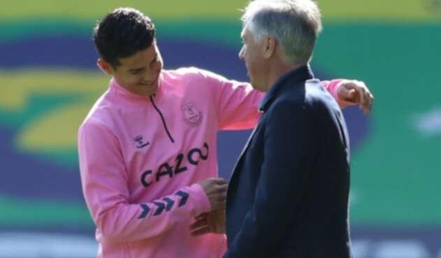 James Rodríguez, Carlo Ancelotti, Everton
