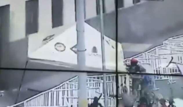 Registran actos vandálicos en Medellín