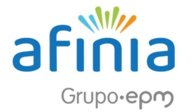 El logo de Afinia