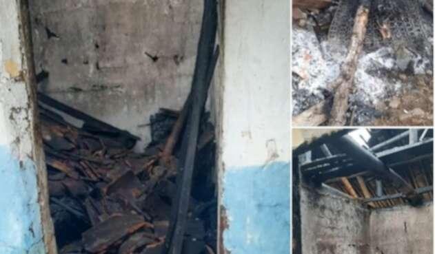 Parte de la estructura donde fue hallado el cuerpo, quedó destruida.