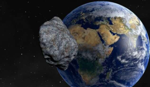 Asteroide en curso a la Tierra