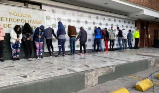 Captura de bandas en Bogotá