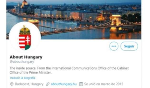 Cuenta de Twitter del Gobierno húngaro
