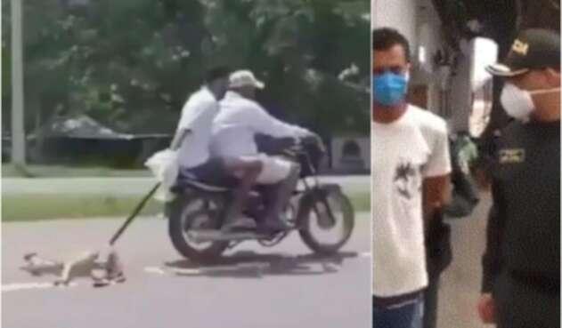 Capturan a desalmados moteros que arrastraron un perro por carretera