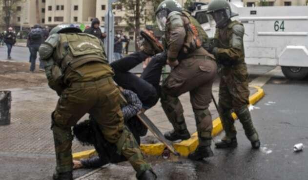 Carabineros en protestas en Chile, 25 de septiembre de 2020