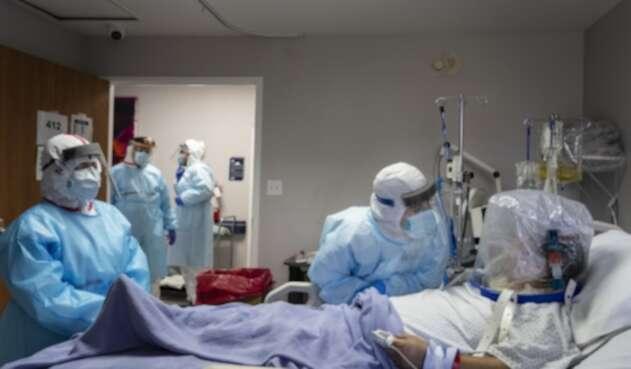 Pacientes contagiados de coronavirus en Estados Unidos