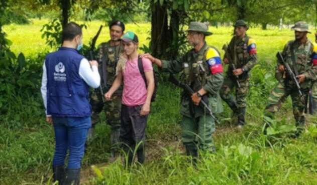 Liberan joven que estaba secuestrado en el Catatumbo