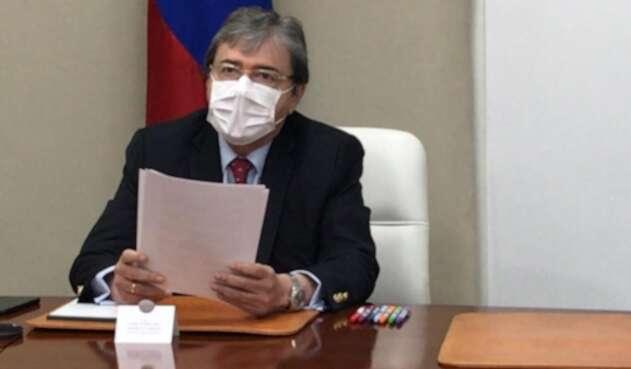 Ministro de Defensa, Carlos Holmes Trujillo desde la virtualidad