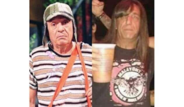 El Chavo del 8 metalero, un rockero muy parecido a Roberto Gómez Bolaños.