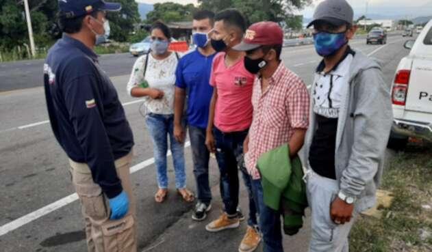 Migrantes venezolanos de vuelta a Colombia