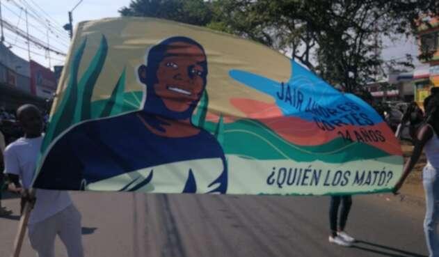 Marcha por las víctimas de la masacre de Llano Verde