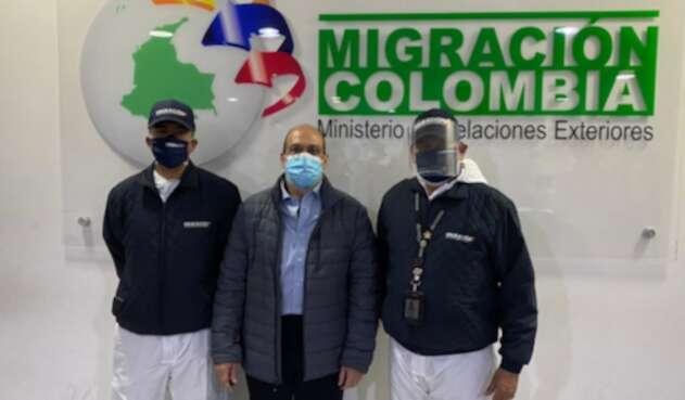 Exparamilitar Rodrigo Tovar Pupo ('Jorge 40'), al llegar a Colombia deportado.