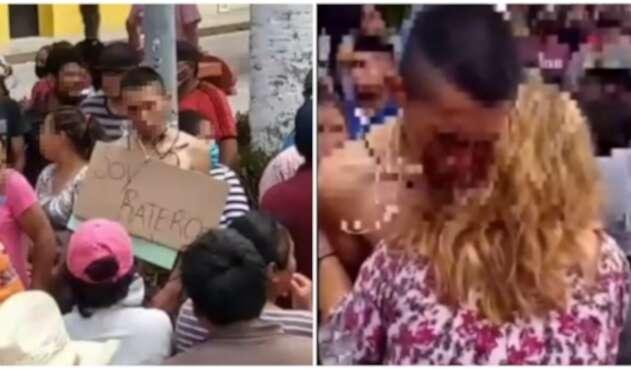 Presunto ladrón y su madre en México