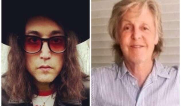 Sean Ono Lennon y Paul McCartney