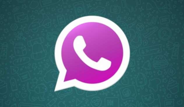 Logo WhatsApp rosado