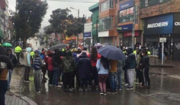 Protesta de comerciantes en el 20 de julio en Bogotá