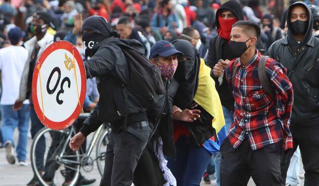 Protestas en Bogotá, 21 de septiembre de 2020