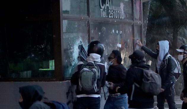 Protestas en Villa Luz, 10 de septiembre de 2020