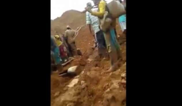 Rescate mineros en Valdivia, Antioquia