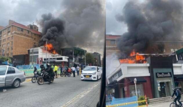 Se registra fuerte incendio en la localidad de Chapinero