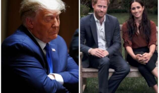 Donald Trump y los duques de Sussex