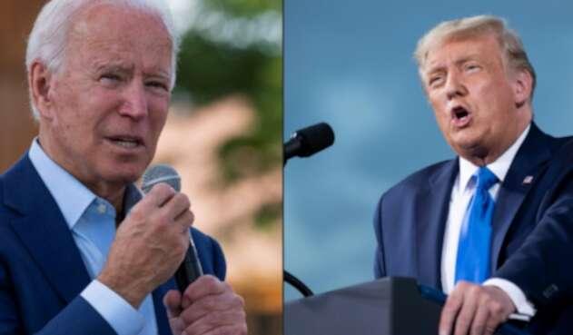 Joe Biden y Donald Trump, enfrentados en elecciones en EE.UU.