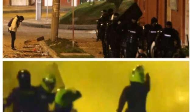 Policías disparan frente a CAI Verbenal en medio de protestas