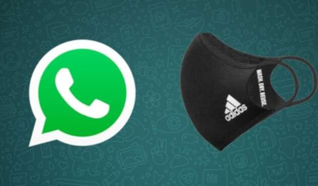 Estafa en WhatsApp con tapabocas