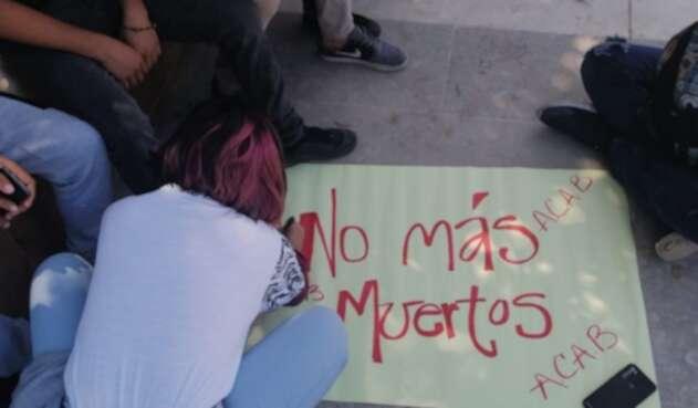 Protesta en Valledupar.