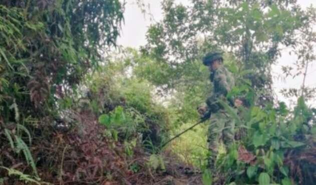 Referencia soldados del Ejército Nacional.