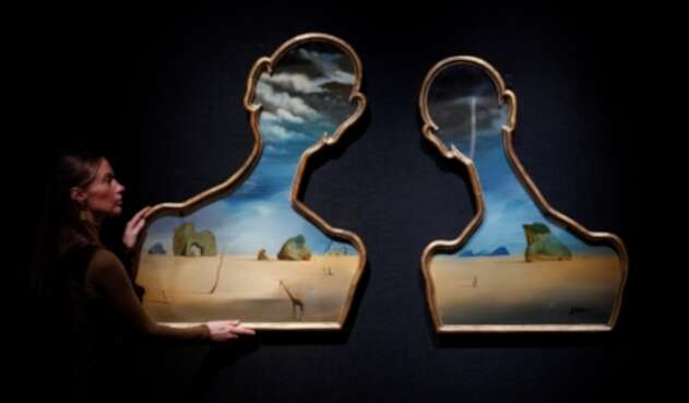 """Salvador Dalí """"Couple aux têtes pleines de nuages"""""""