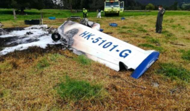 Accidente de avioneta en autopista Norte