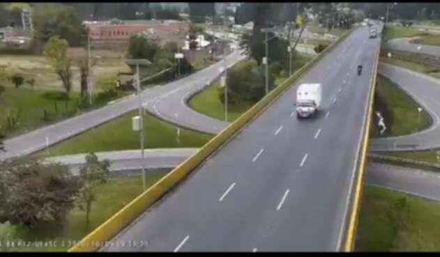 Accidente de ciclista en Chía