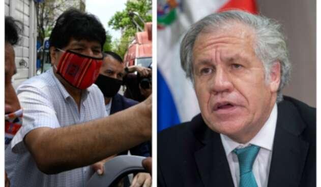 Evo Morales y Luis Almagro