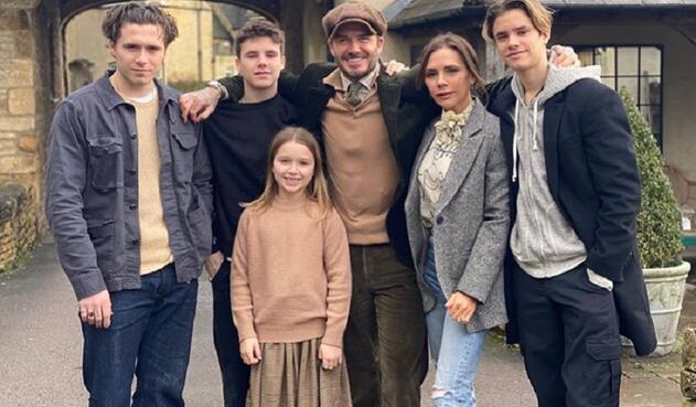 David Beckham y su familia