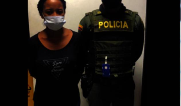Captura de mujer en Cartagena