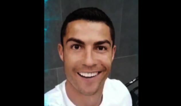 Captura de pantalla del video de Cristiano