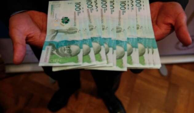 Billete de cien mil - Dinero - Pesos