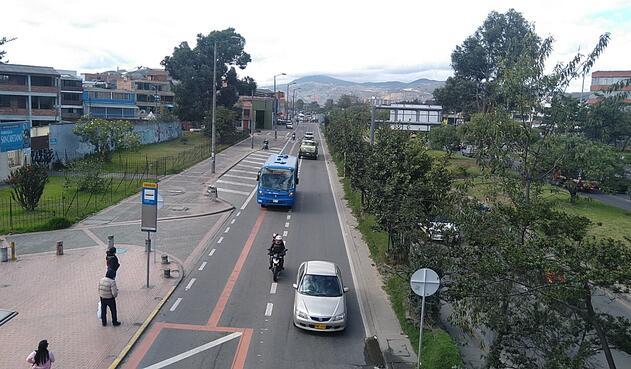 Carriles preferenciales en Bogotá