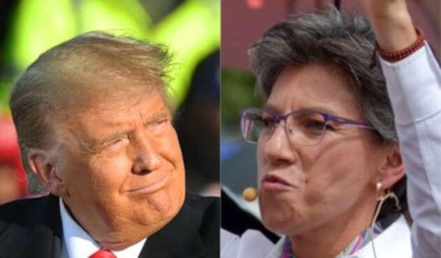 Donald Trump y Claudia López